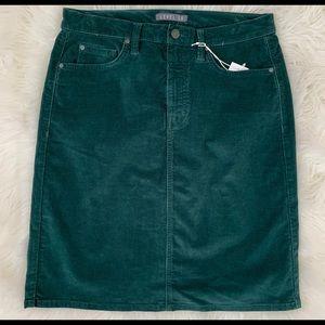 Level 99 Corduroy Pencil Skirt Pine
